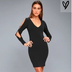 NWT LuLu's Black bodycon dress